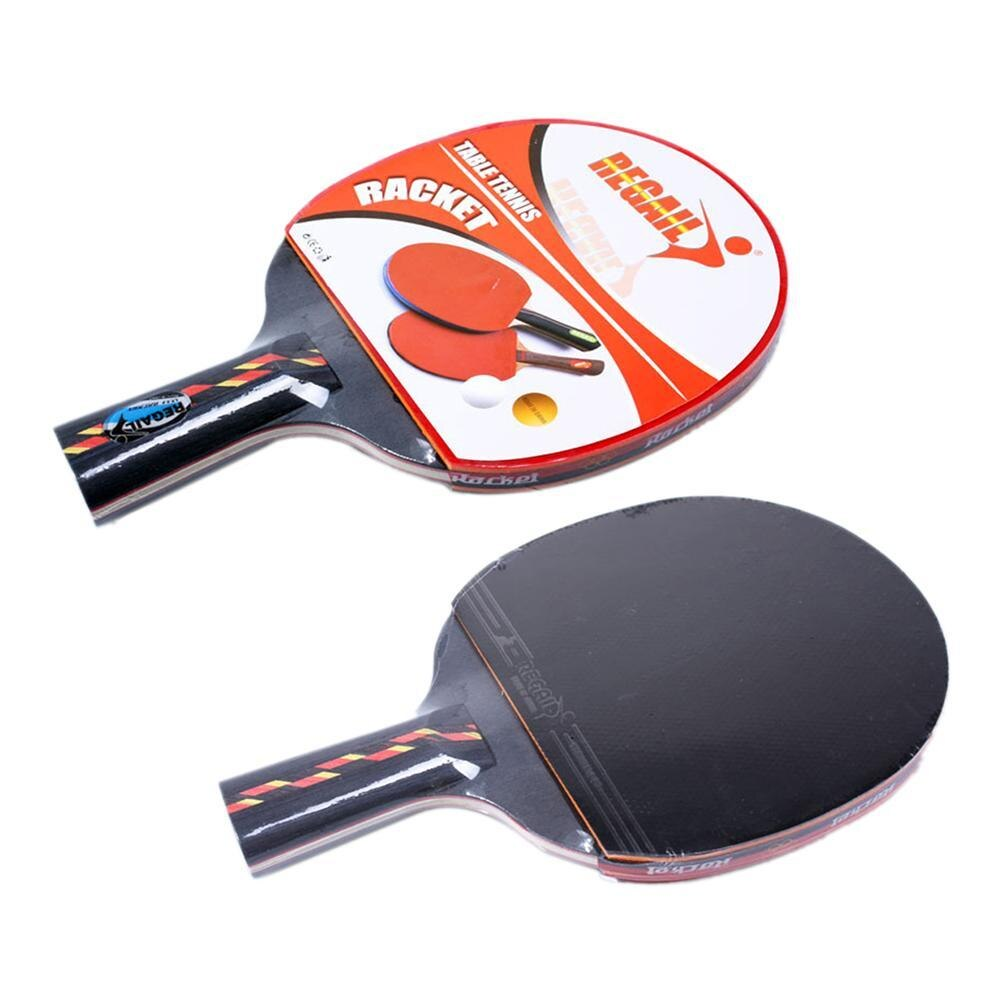 1pcs/lot Table Tennis Bat Racket Long Short Handle Ping Pong Paddle Racket Set With Bag
