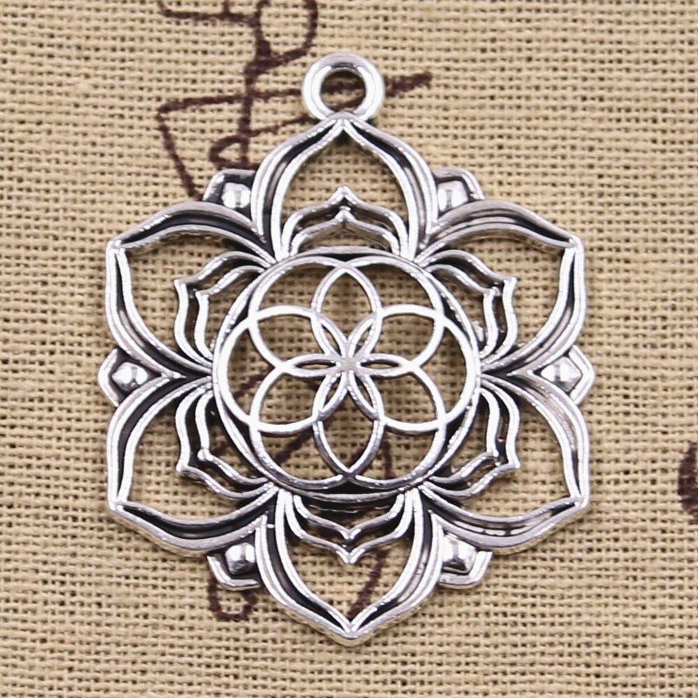 Подвески для йоги, 6 шт., Античные Подвески из серебра, DIY, тибетские украшения