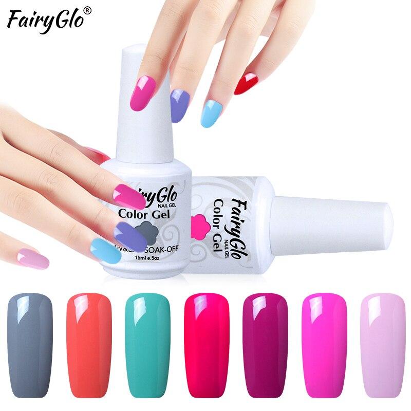 Гель-лак для ногтей фэйргло, 15 мл, чистый цвет, УФ-гель для ногтей, отмачиваемый Гель-лак, Полуперманентная краска, Гель-лак для ногтей