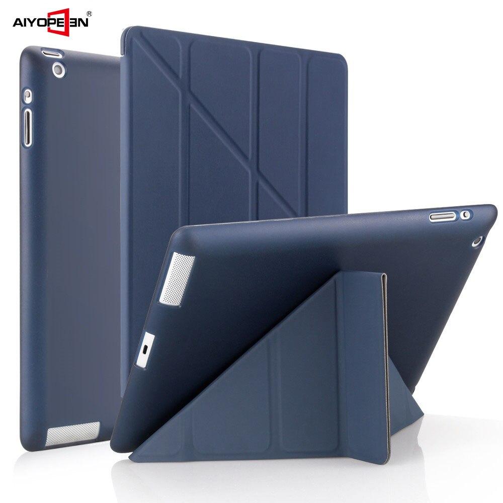 Чехол для iPad 2, 3, 4 A1460, силиконовый мягкий чехол-книжка с подставкой и функцией автоматического сна/пробуждения, умный чехол из искусственной кожи для iPad 3 4 2