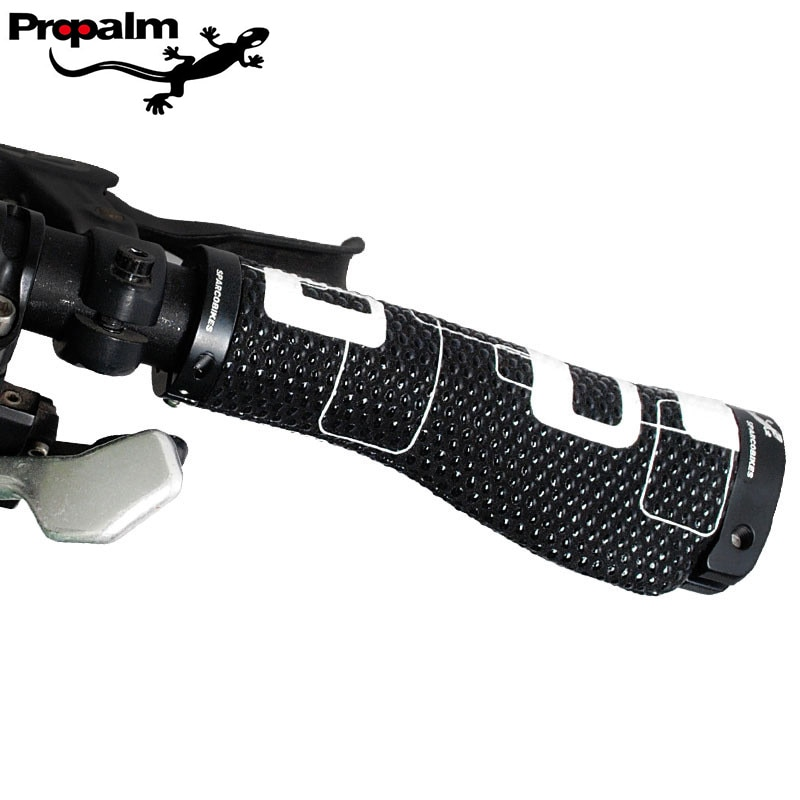 Propalm/Gecko bicicleta carretera manillar doble final con cerradura montaña bici partes Amortiguador Anti-skid bicicleta puños