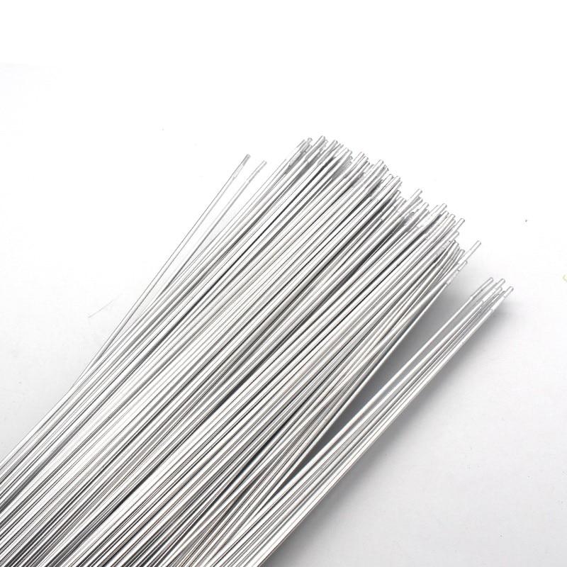 "Hastes De Soldadura de Alumínio De cobre WE53 Baixa Temperatura de Brasagem Flux Cored Wire 500x2.0mm 19.68x0.079 ""10 pcs para Reparação de Ar Condicionado"