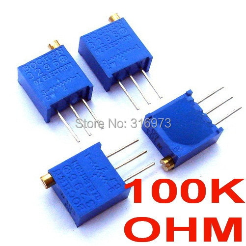 ¡(2 unids/lote) 100 K ohm 3296 multivuelta potenciómetro!