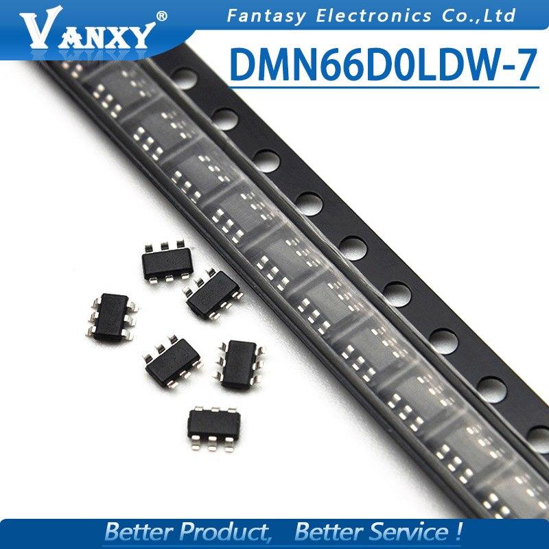 10pcs DMN66D0LDW-7 SOT363 DMN66D0LDW SOT-363 MN1 new and original