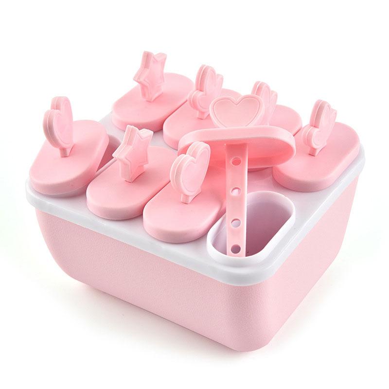 Ice Cube Mould Gereedschap Popsicle Ijs Mold Frozen Icecream Maker Lade Pan Keuken Diy Bevroren Sucker Popside Ronde Vierkante @