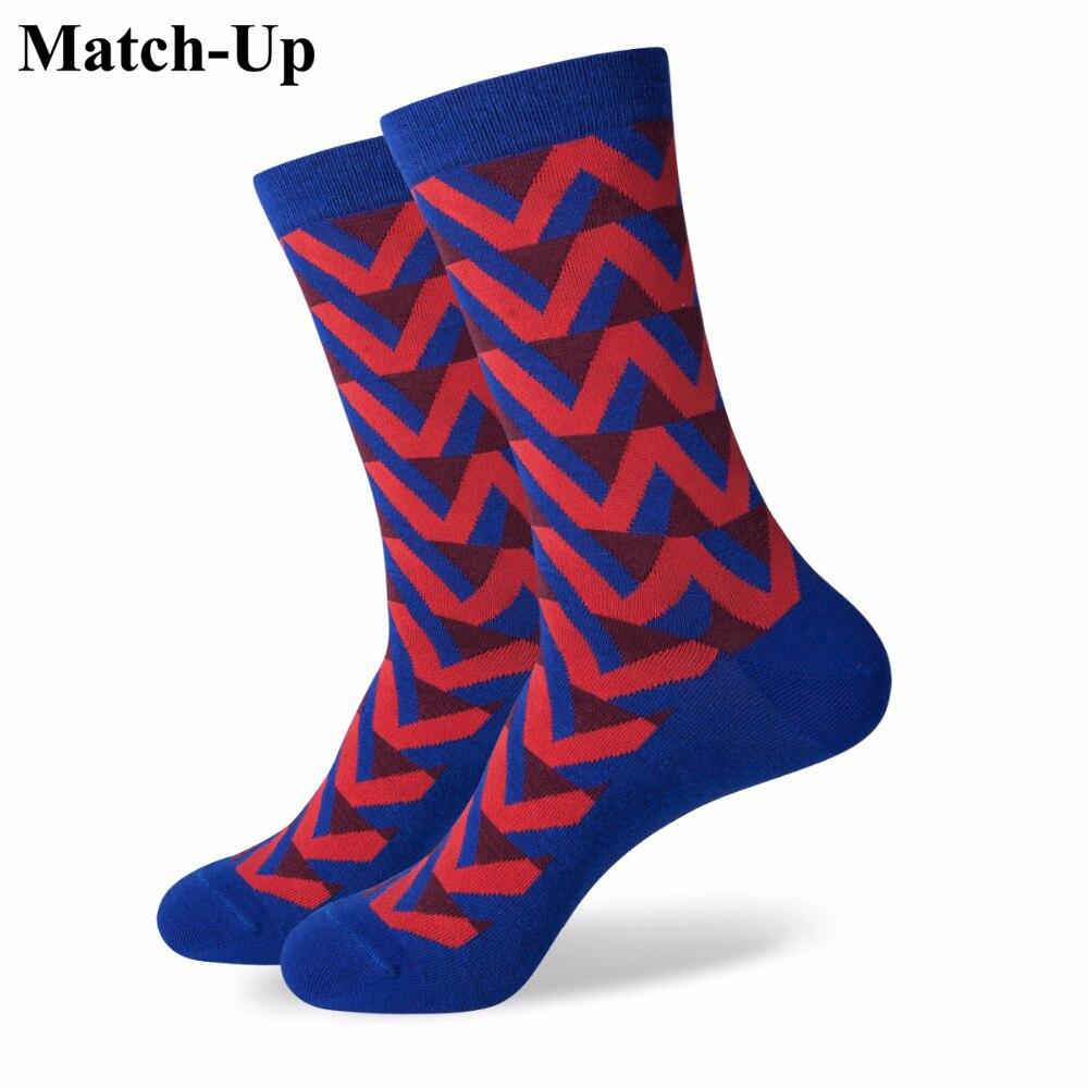 Подходящие цветные носки Веселые мужские хлопковые носки Свадебные носки с якорем американские размеры (7,5-12)