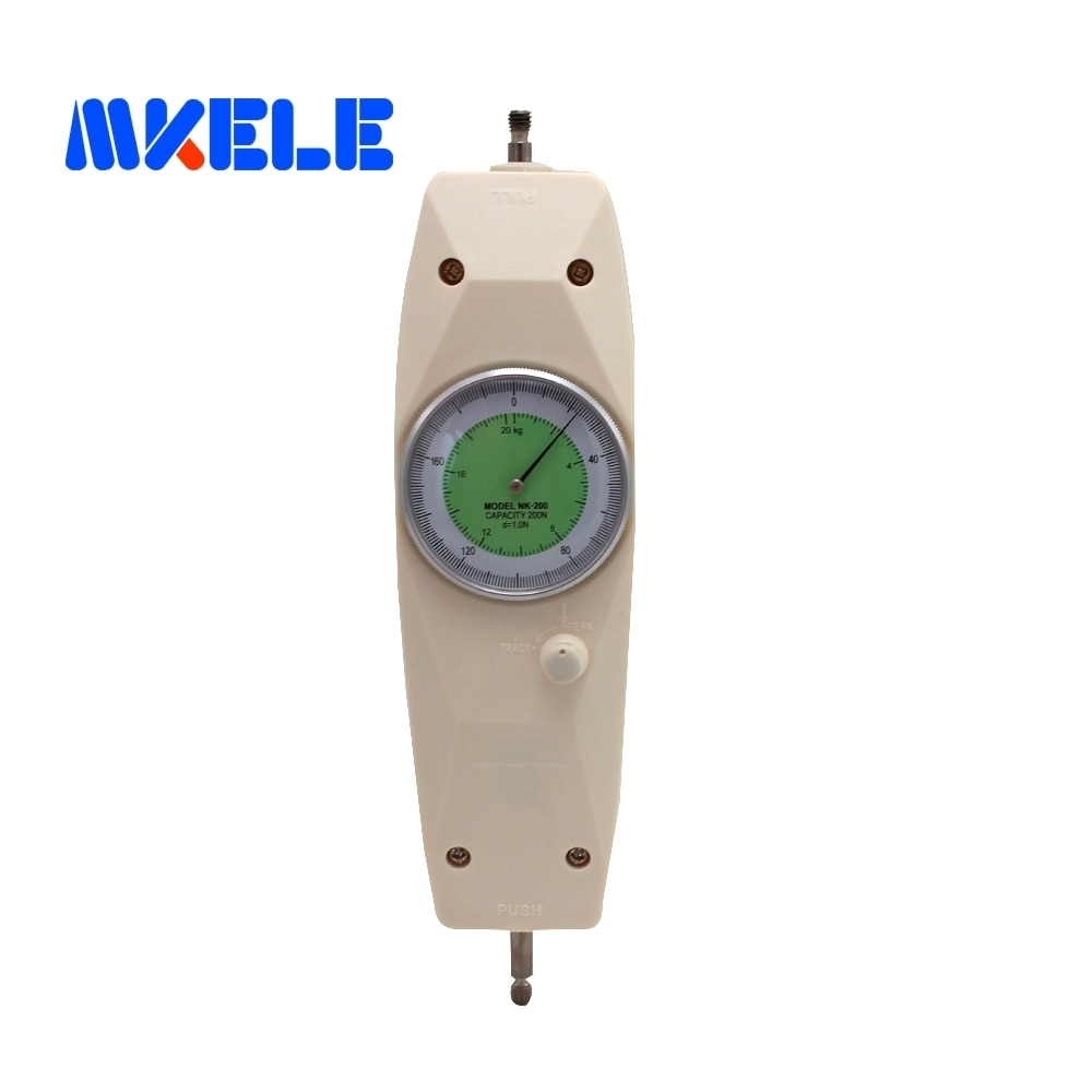 NK-200 200N Pointer Dynamometer Analog Push Pull Force Gauge Tester Meter