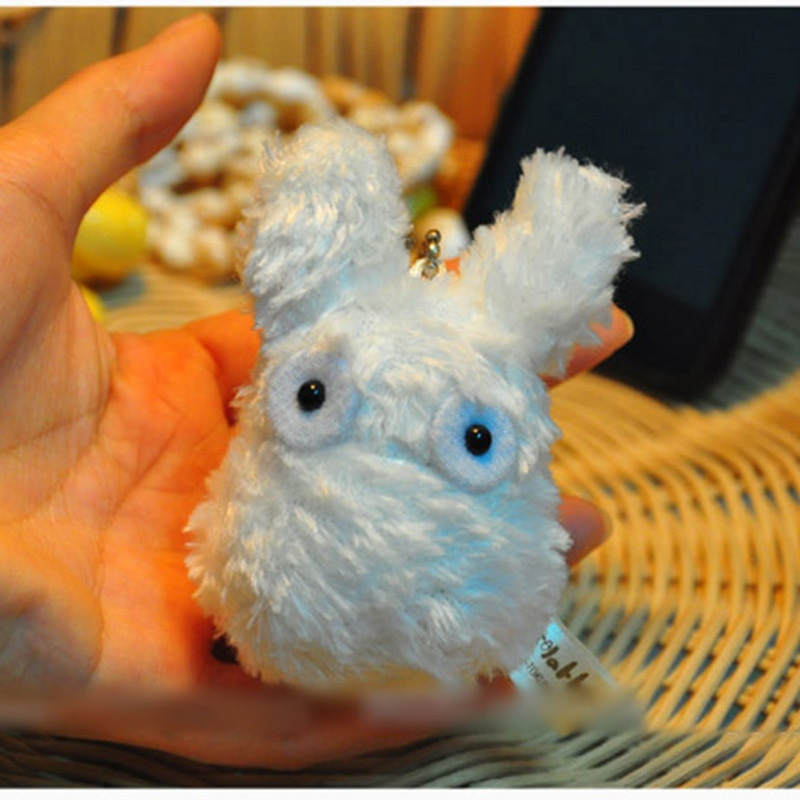 Figura de peluche Totoro blanco de Anime Studio Ghibli My Neighbor Totoro juguete de acción muñeco con cadena de peluche relleno 11cm