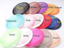2016 mehrere Farbe 13 CM RUNDE SINAMAY Fascinator Basis Neue DIY Frauen Partei Fascinator Hut Basis 10 teile/los Großhandel
