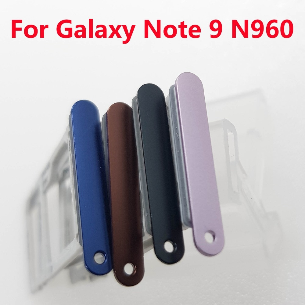 Single Dual Sim Karte Tray Slot Micro SD Karte Tablett mit Dichtung Sim Tray Für Samsung Galaxy Note 9 N960 n960F N960FD N960U