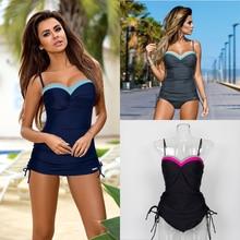 Women Two Piece Swimwear Tankini Sexy Bandeau Push Up Bikinis Summer Vacation Bathing Suit Beachwear Mailot De Bain Swim Wear