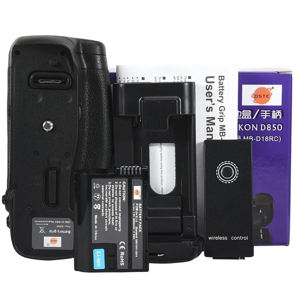 DSTE Remote Control MB-D18 Battery Grip with EN-EL15 Battery for Nikon D850 Camera