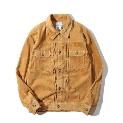 Autumn Vintage Mens Corduroy Jackets Male Fashion Oversize Streetwear coat Male Hip Hop Bomber baseball Windbreaker A72410