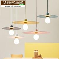 Qiseyuncai 2018 new Nordic creative color macaron restaurant chandelier hotel table cafe clothing store bar lighting