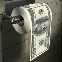 Nieuwigheid Grappige Honderd Dollar Bill Soft Gedrukt Home Roll Toiletpapier Us Dollar Tissue Donald Trump Wc Geld Roll papier