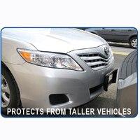 CHIZIYO Auto Black Front Bumper Guard EVA American License Plate Frame Tag Cover Protector