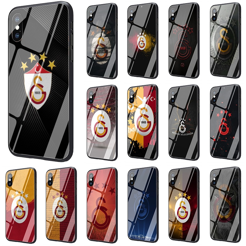 Турция Galatasaray закаленное стекло мягкий чехол для телефона iphone 5 5s SE 2020 6 6s 7 8 plus X XR XS 11 pro Max