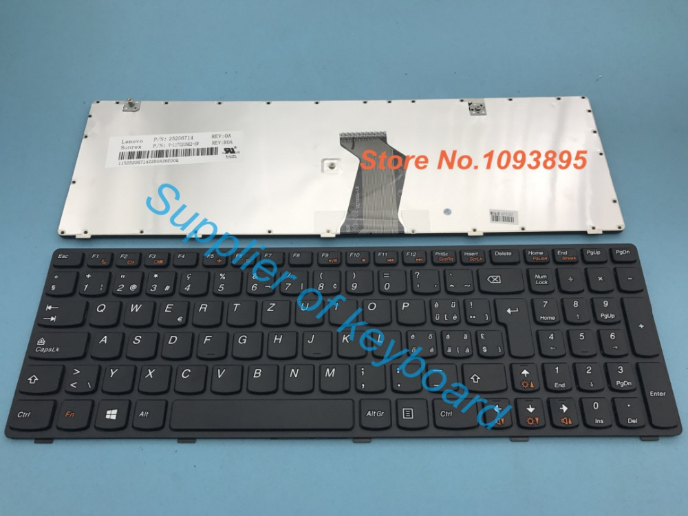 Nuevo teclado suizo alemán para Lenovo G580 Z580 V580 G580A V580A Z580A G585 G585A portátil Suiza teclado suizo