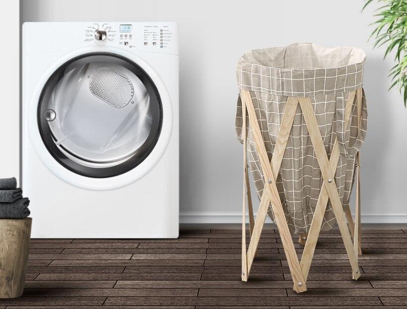 Caliente nórdica tela de algodón ropa sucia cesta artículos de almacenamiento Multi-función plegable cestas para la colada de baño cocina LFB757