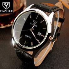 Top marque YAZOLE montre hommes montre automatique Date de luxe montre pour hommes hommes bracelet en cuir montres daffaires homme horloge reloj hombre