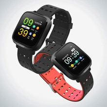 GIAUSA Y8 ساعة ذكية الرجال IP67 للماء سوار لياقة بدنية النشاط تعقب المعادن حالة القلب معدل لالروبوت IOS Smartwatch
