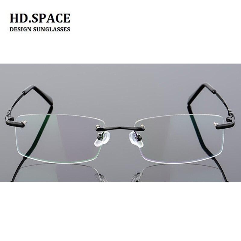 Metal acabado sem aro miopia óculos de miopia míopes óculos de prescrição para mulher masculina diopter de-1.0 a-6.0