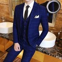 2019 new fashion brand mens suits 3xl slim fit elegant business wedding banquet men dress suit jacket vest pants