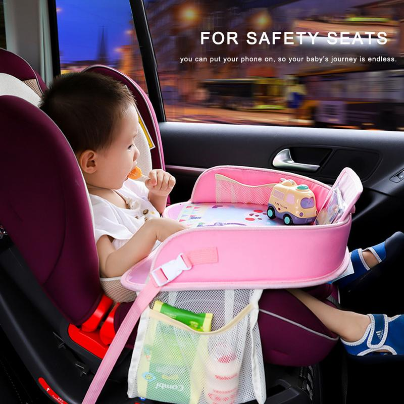 Baby Car Tray Plates Portable Waterproof Dining Drink Table for Kid Baby Playpen Car Seat Children Cartoon Toy Storage Fence