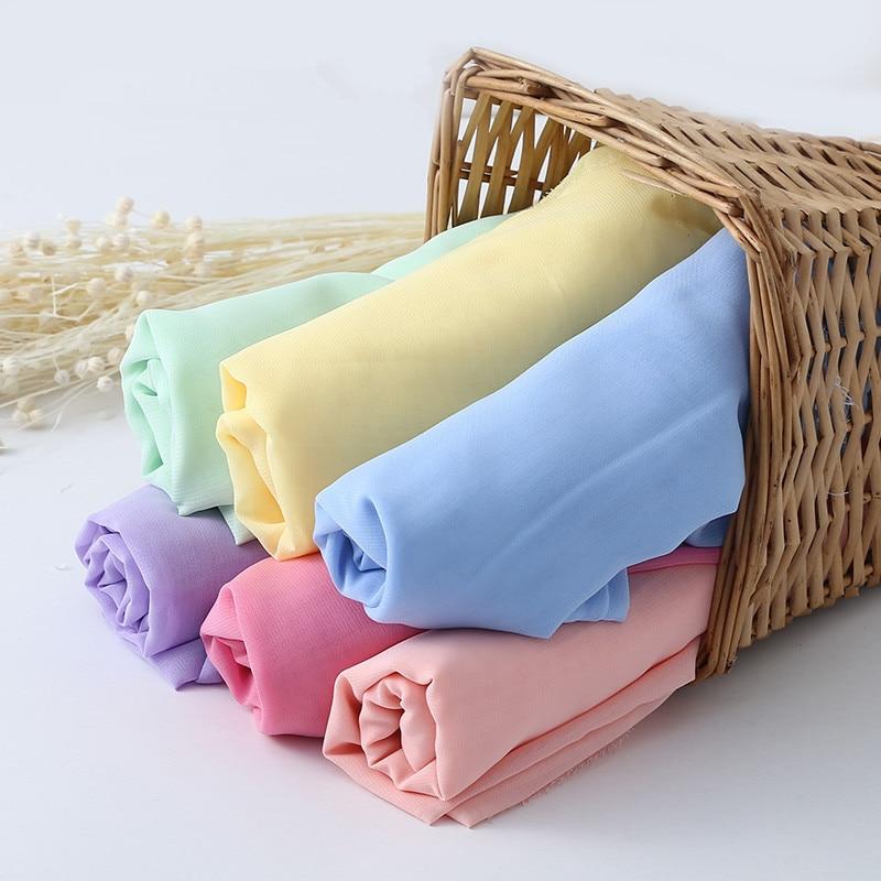 150cm * 100cm tela de gasa de color transparente boda forro de tela para vestido falda decorador de fiesta Georgette material de vestido de tul