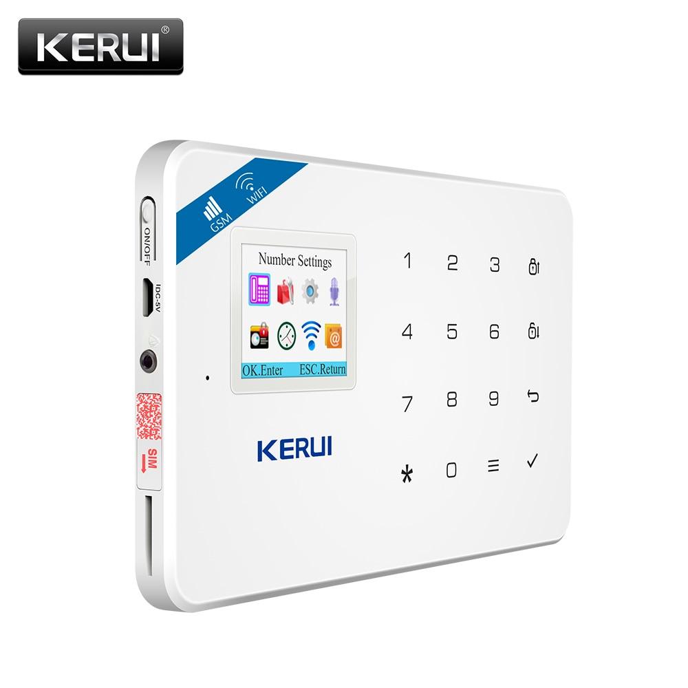 KERUI W18 Alarm System  WIFI GSM Home Security Wireless Motion Detection Door Sensor Alarm Kit With 110dB Outdoor Solar Siren enlarge