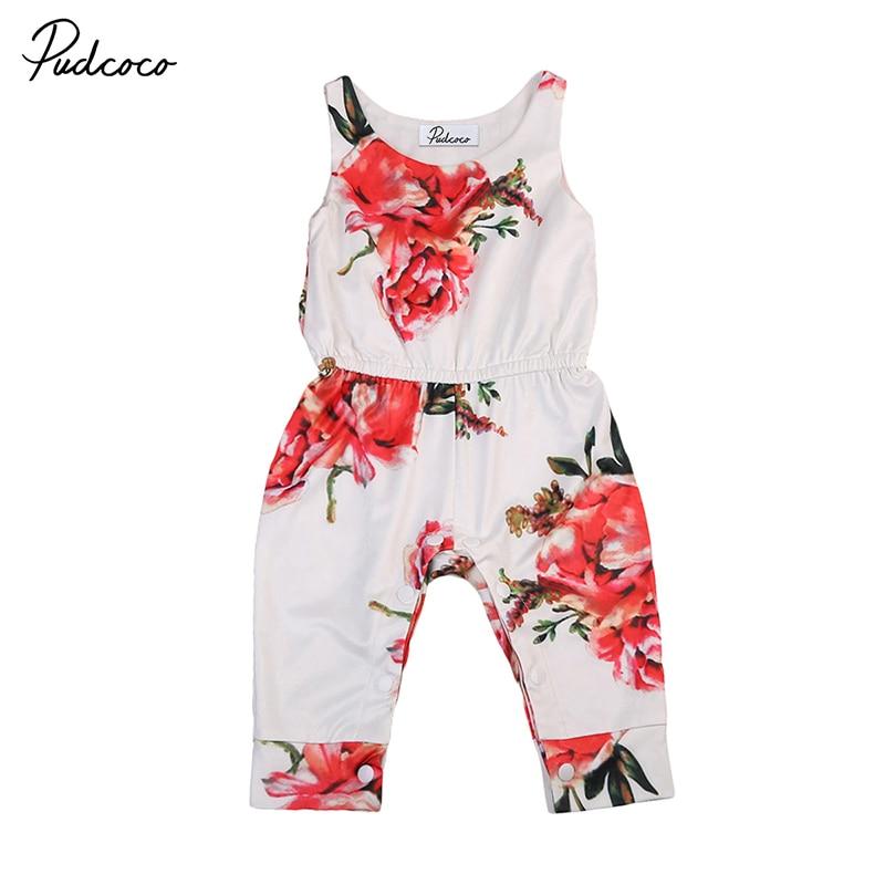 Cute Floral Newborn Baby Girl Romper Sleeveless Infant Kids Jumpsuit One Pieces Playsuit Sunsuit Clothes