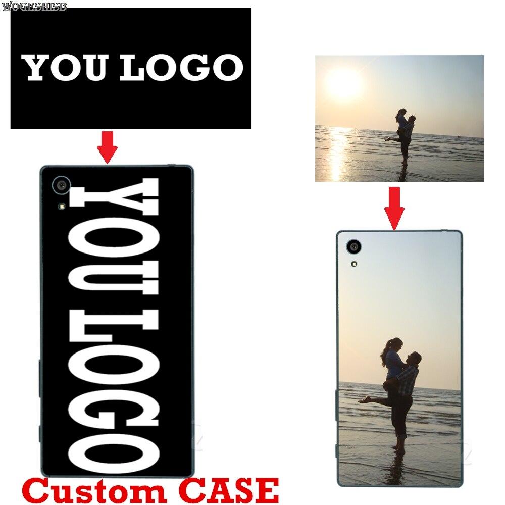 Personalizado logotipo personalizado diy impressão foto caso macio para sony xperia z2 z4 z z3 z5 compacto premium xa1 ultra mais personalizado capa