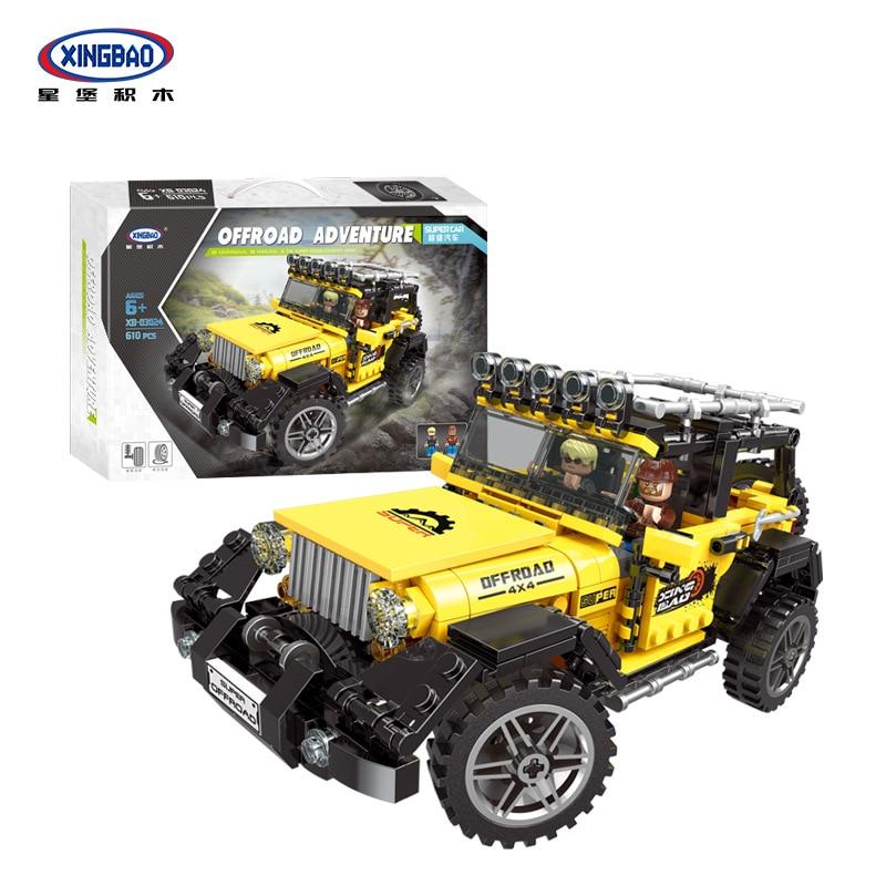 Xingbao-مجموعة بناء المركبات ، شاحنة ، كتل ميكانيكية ، سيارة ، تقنية ، مكعبات بناء ، SUV ، جيب ، أجزاء ، عيد الميلاد