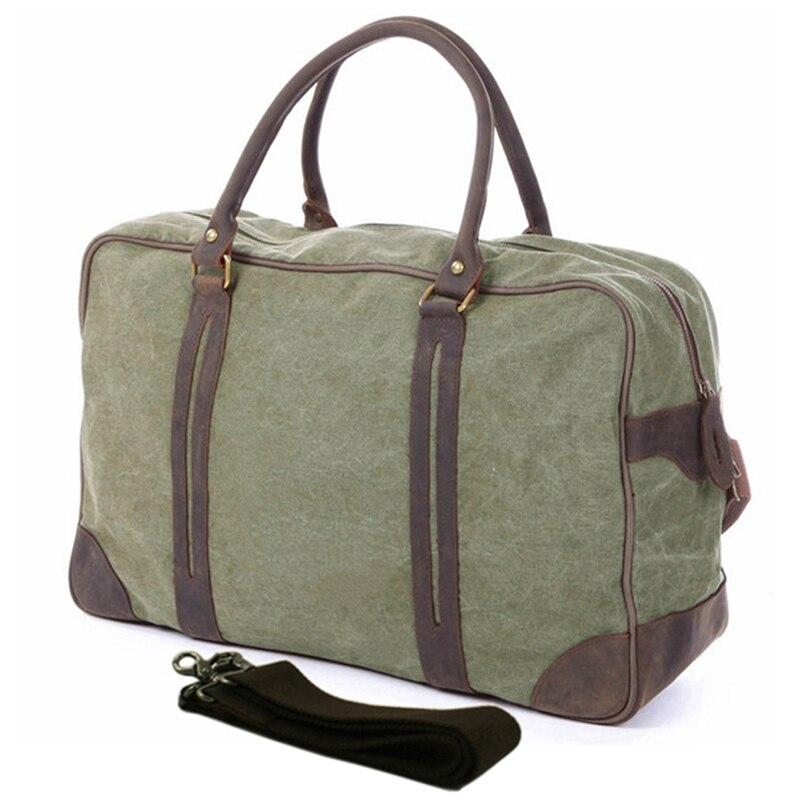Винтажные мужские холщовые сумки в стиле милитари, большие дорожные сумки для багажа, мужские сумки для отдыха на выходных