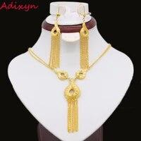 new arrival ethiopian necklaceearrings set jewelry gold color jewelry indiaafricandubainigeriaarabicoman girls gifts