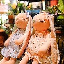Длинные ушки, милый кролик, детские мягкие плюшевые игрушки для детей, кролик, спящий, мягкие плюшевые детские игрушки в виде животных для детей