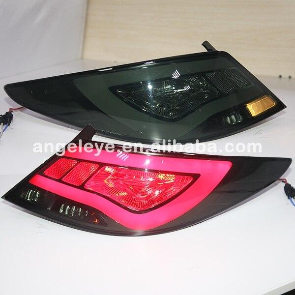 Acento Verna Solaris para Hyundai luz trasera LED 2011-Año 2013 negro ahumado Color YZ