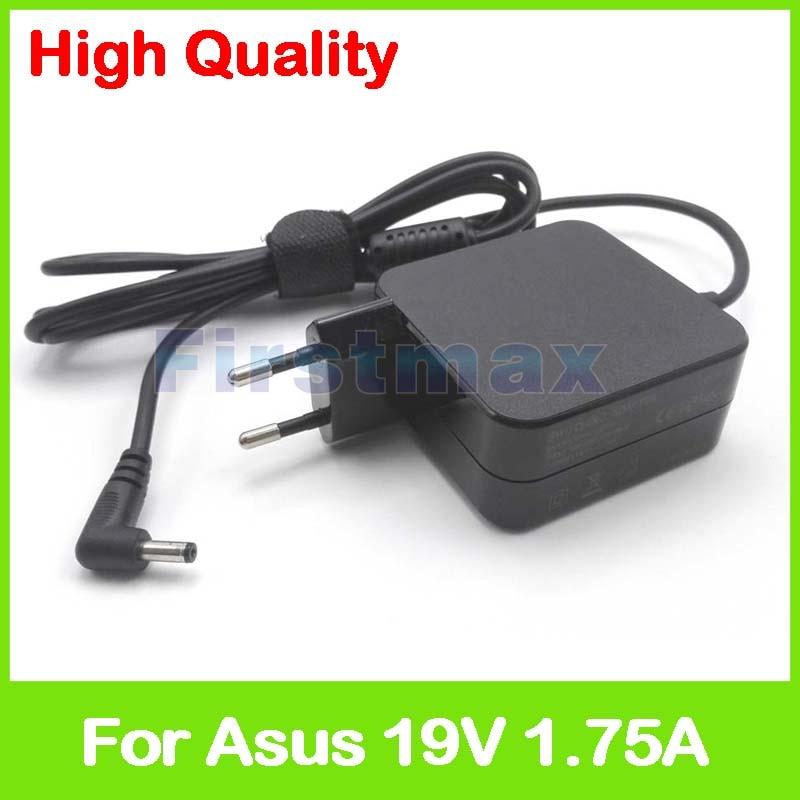 19V 1.75A 33W محمول AC محول الطاقة شاحن ل Asus X202 X202E X453M X453MA X553M X553MA X553S X553SA Chromebook C200 الاتحاد الأوروبي التوصيل