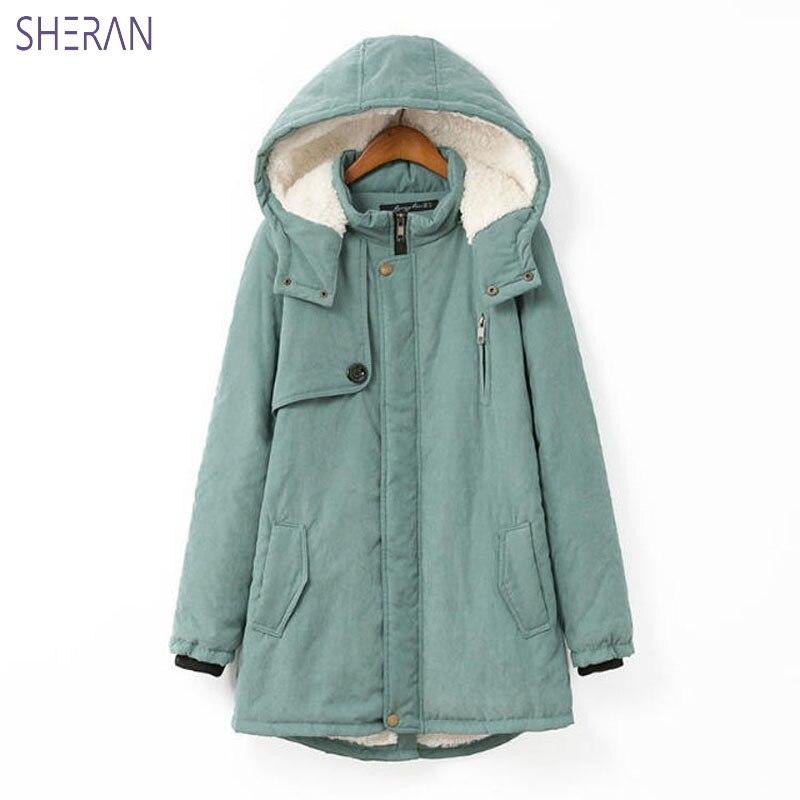 Новинка 2018, зимние женские куртки, пальто, простые женские парки, теплые зимние пальто с капюшоном, высококачественные парки с биологически...