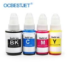 4 couleurs/Set encre de colorant de recharge de bureau pour Canon toutes les cartouches dencre dimprimante à jet dencre et CISS (encre de colorant BK-135ML dencre de colorant de CMY-70ML)
