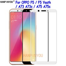 For OPPO F5 / F5 Youth / A73 / A75 A75s Full Cover Tempered Glass Screen Protector Ultra Thin Explos