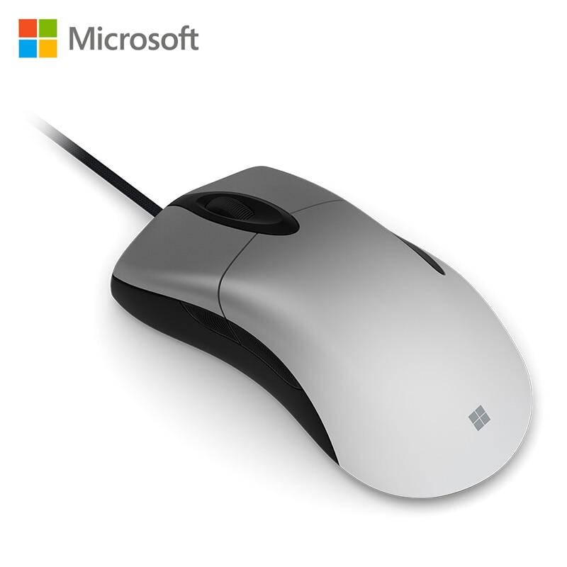 Microsoft Pro Intelli мышь Серебристая с PixArt PAW3389PRO-MS 16000 dpi игровая мышь для ПК геймера overwatch PUBG DOTA2
