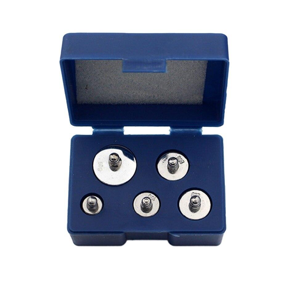 Juego de calibración de equilibrio 5 unids/set de calibración de precisión juego de pesos de escala de cromado 1g 2g 5g 10g 20g gramos para herramienta doméstica