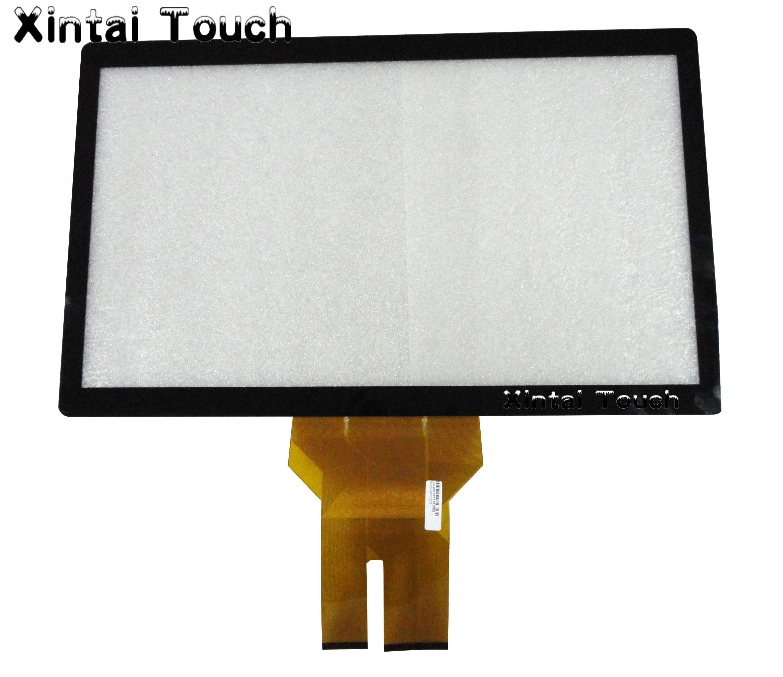 شاشة لمس متعددة بالسعة 18.5 بوصة رخيصة مع طقم لوحة تراكب شاشة تعمل باللمس زجاجية/سعوية للطاولة التي تعمل باللمس ، كشك ، إلخ.