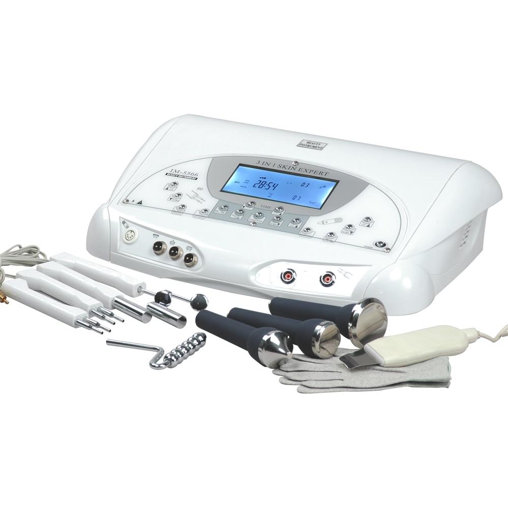 Skin Expert BIO Microcurrent Skin Lifting Wrinkle Remove Ultrasonic Face Body Massage Magic Gloves Skin Scrubber Machine