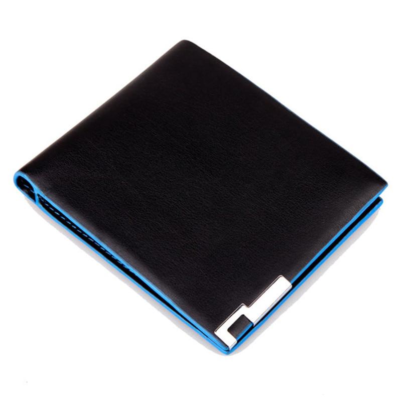 2017 самый популярный мужской Стильный складной деловой кожаный бумажник, держатель для карт, кошелек для монет, мужской высококачественный ...