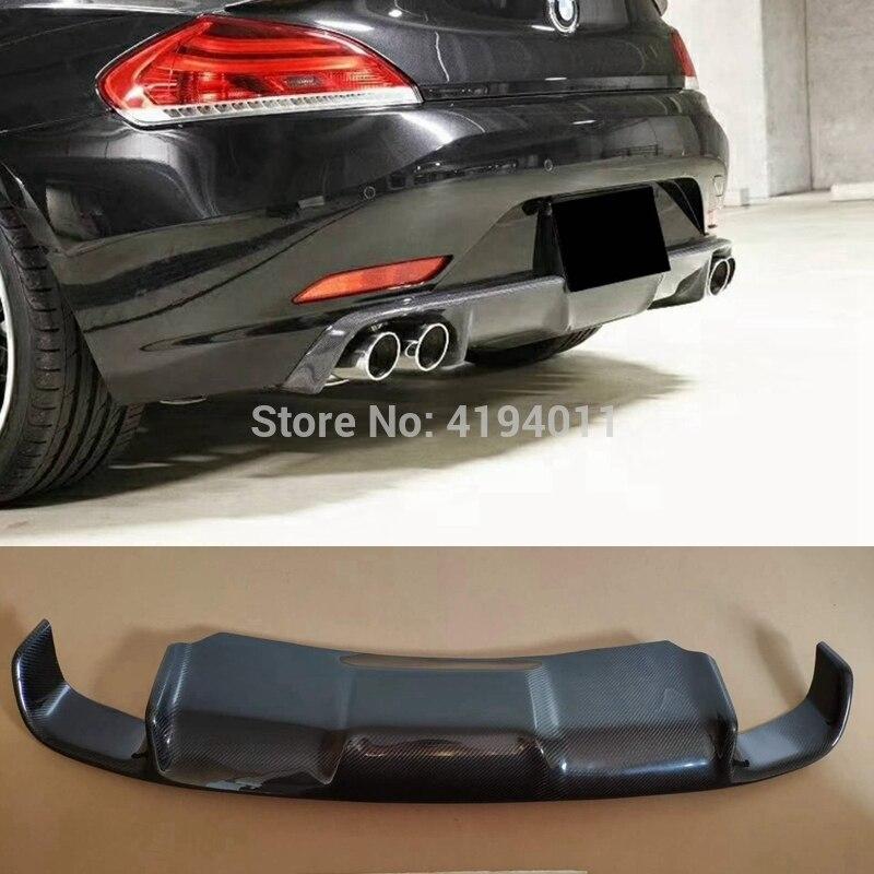 MONTFORD Car Accessories Carbon Fiber Rear Diffuser Bumper Guard Protector Skid Plate Bumper Cover For BMW E89 Z4 2009-2013 1Pcs