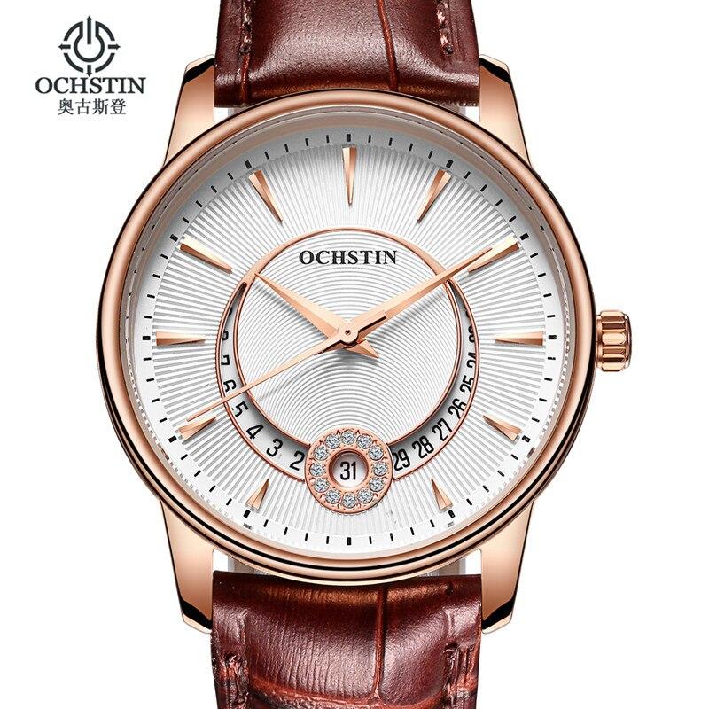 ساعات نسائية موضة ماركة OCHSTIN كوارتز ساعة نسائية ساعة اليد relojes mujer فستان السيدات ساعة الأعمال montre فام