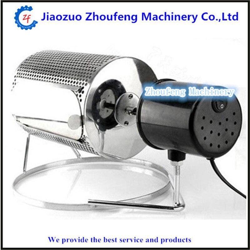 ZF-أسطوانة قهوة كهربائية صغيرة الحجم ، آلة تحميص دوارة لحبوب القهوة