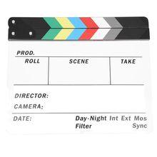 Générique acrylique coloré clins TV Film Film ardoise coupe rôle jeu accessoire Hollywood